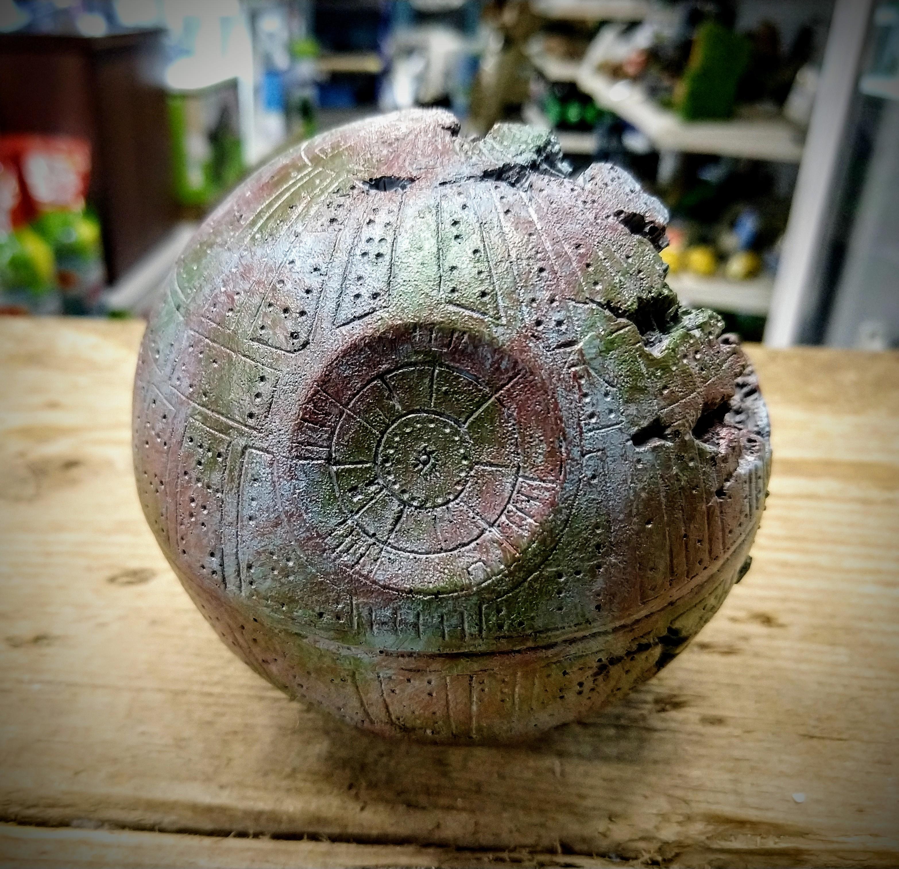 Boom Planet Star Wars Style Death Star Small Med Aquarium Fish Tank Ornament